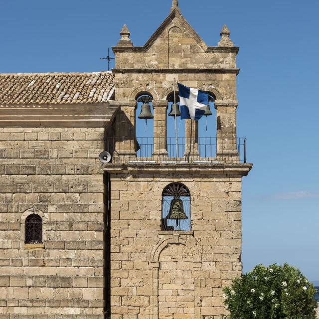 """""""St Nikolaos Molou Church, Zakynthos"""" stock image"""