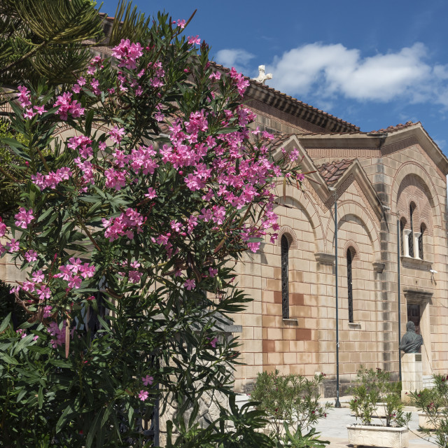 """Agios Dionysios Church, Zakynthos"" stock image"