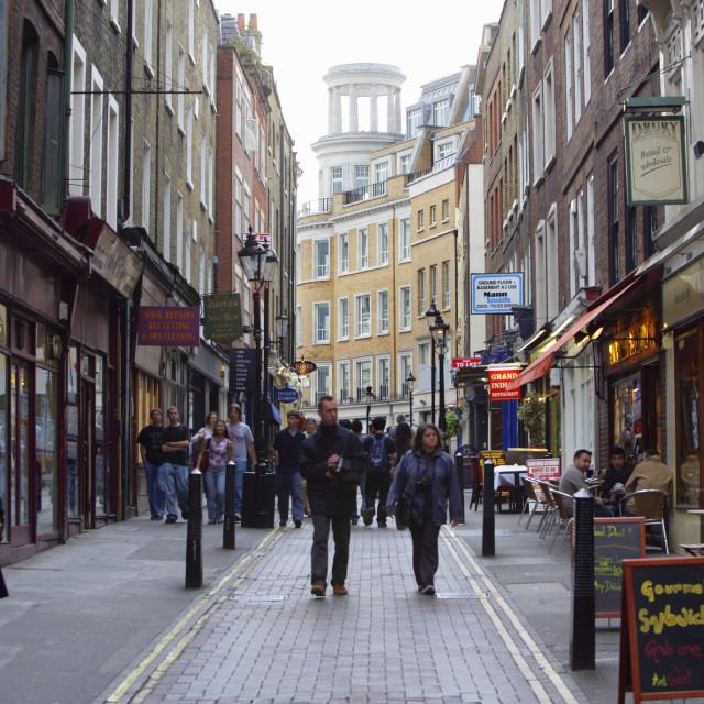 """Walking Street in Soho, London"" stock image"