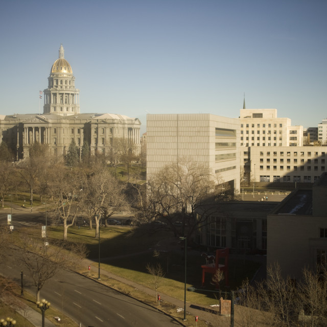 """Capital building, Denver, CO"" stock image"