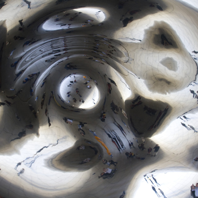 """Cloud Gate, Chicago, Il, USA"" stock image"