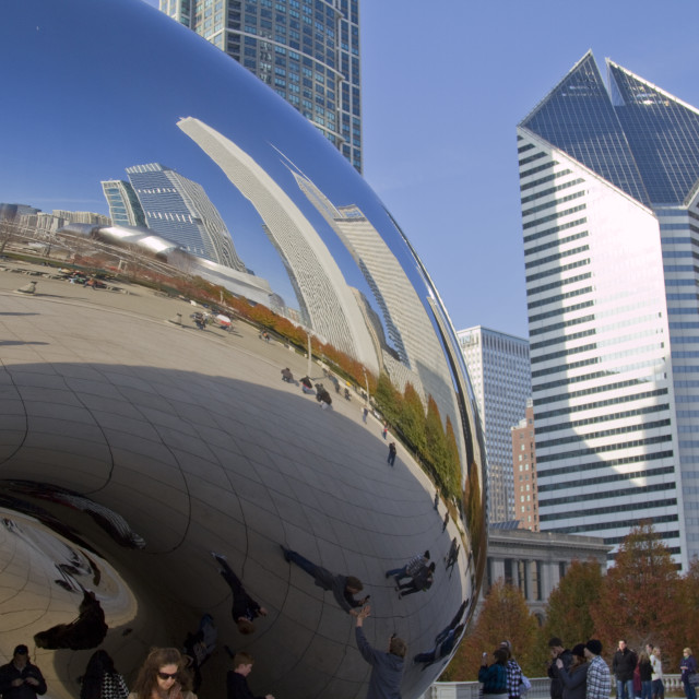 """Cloud gate, Chicago, Ill, USA"" stock image"