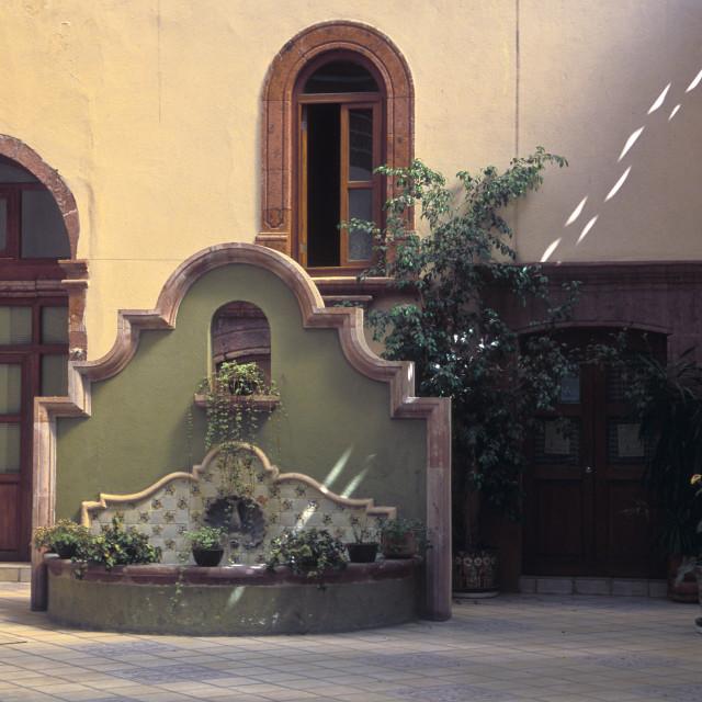 """""""Interior, San Miguel de Allende"""" stock image"""