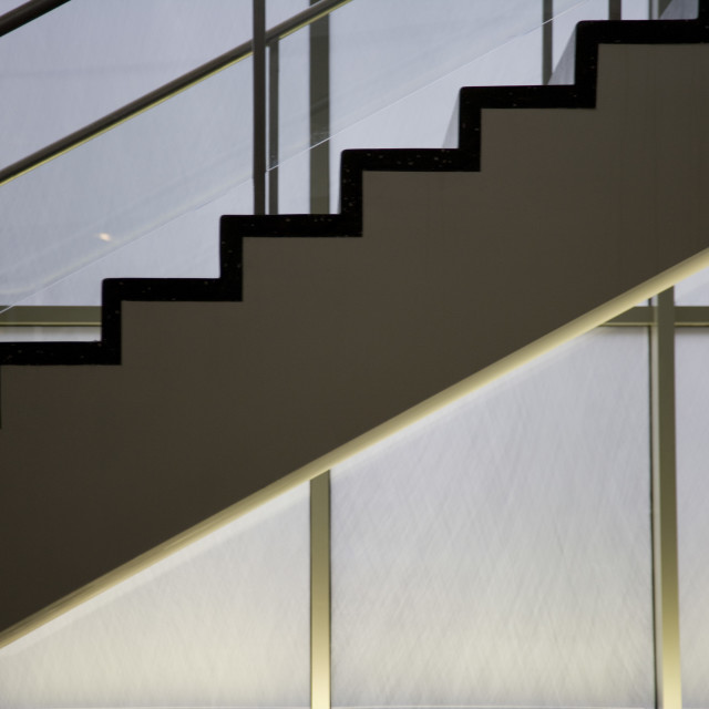 """""""Stairs, MOMA"""" stock image"""