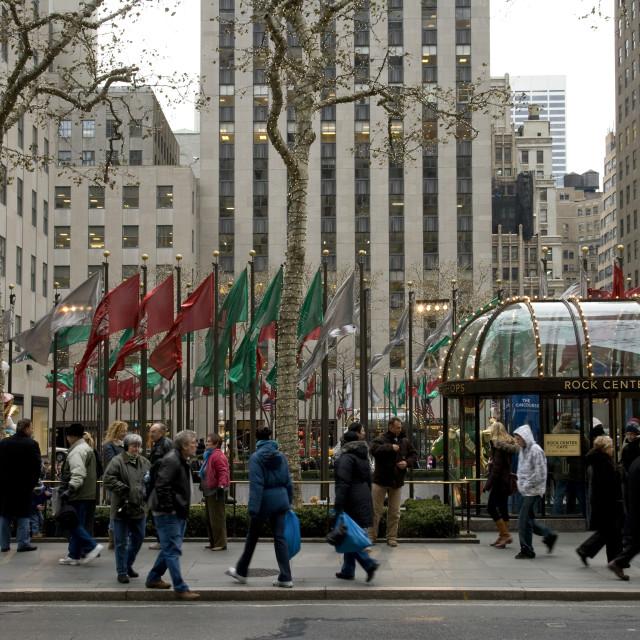 """""""Rockefeller Center, New York"""" stock image"""