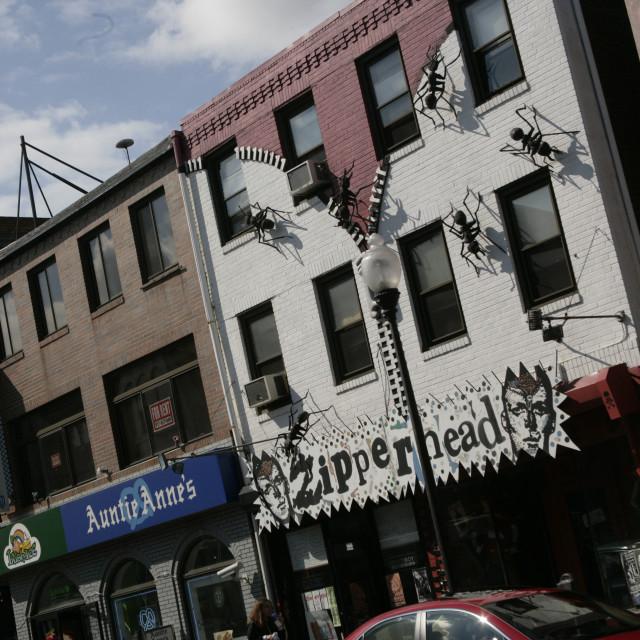 """South street, Philadelphi, PA"" stock image"