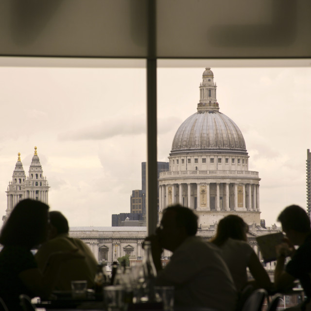 """""""View of London from Tate"""" stock image"""