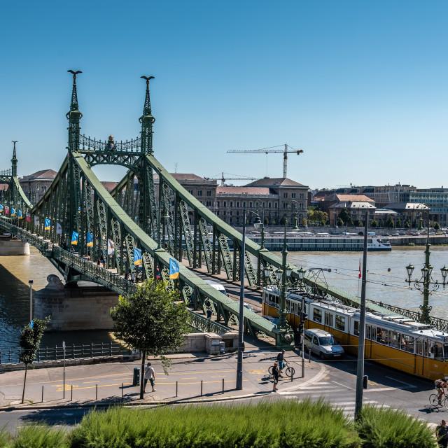 """Liberty Bridge in Budapest"" stock image"