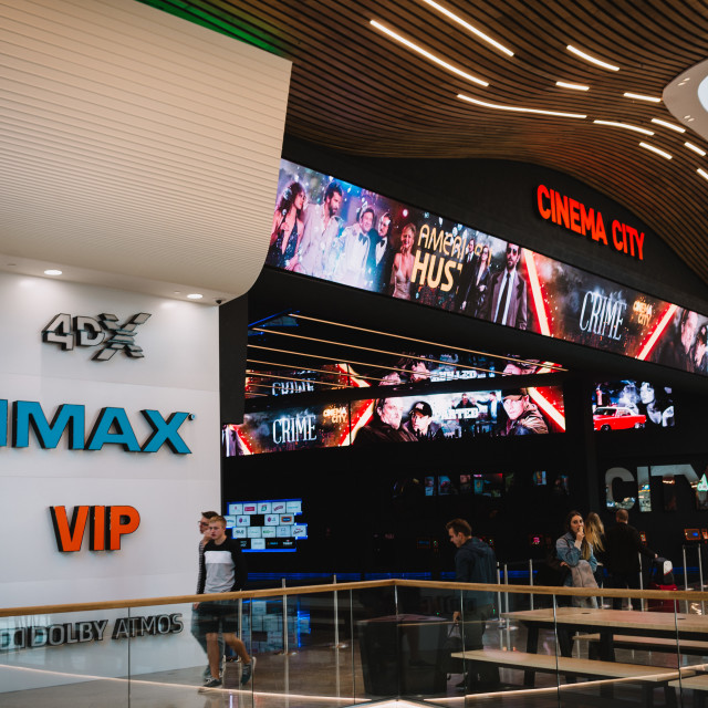 """""""Wroclaw, Poland, October 18, 2017 : first IMAX Cinema in Wroclaw, Wroclavia..."""" stock image"""