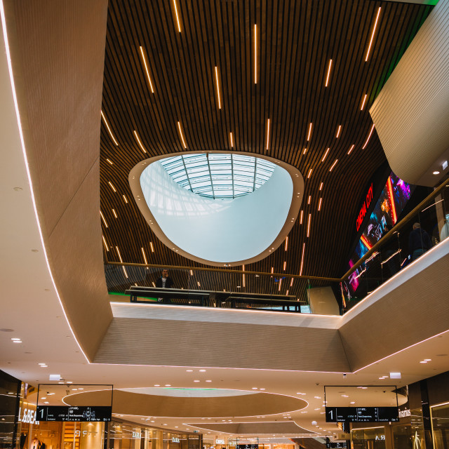 """""""Wroclaw, Poland, October 18, 2017 : first day of the new shopping center..."""" stock image"""