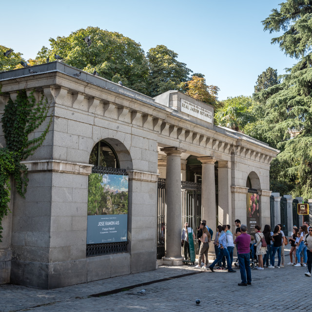 """Royal Botanical Garden of Madrid"" stock image"