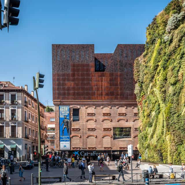 """Outdoors view of CaixaForum Madrid"" stock image"