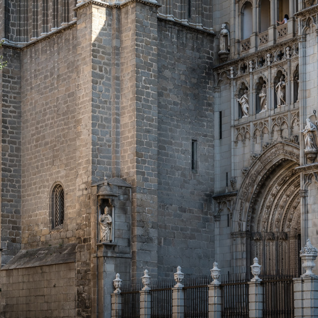 """""""Outdoor view of the Cathedral of Toledo"""" stock image"""