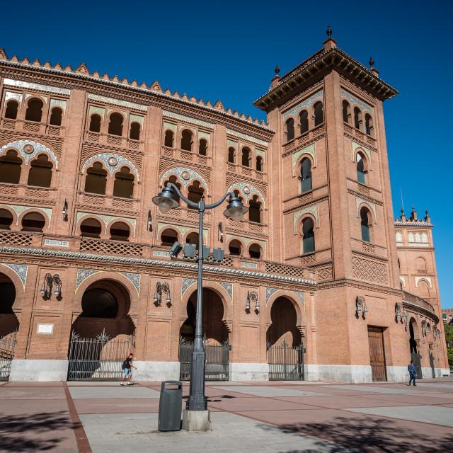 """Outdoor view of Bullring of Las Ventas in Madrid"" stock image"