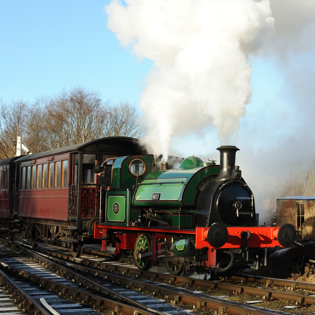 """""""Ex-Keighley Gaswork 0-4-0ST No.2"""" stock image"""