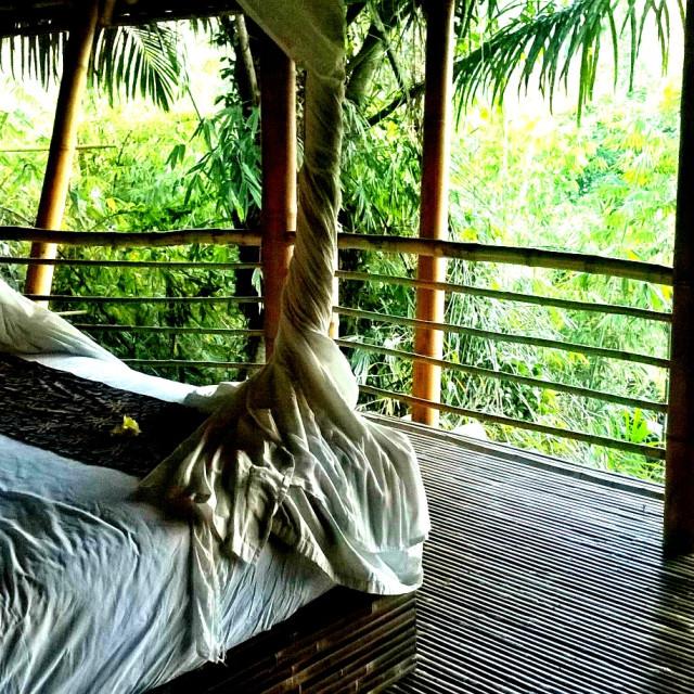 """Balinese bedroom"" stock image"