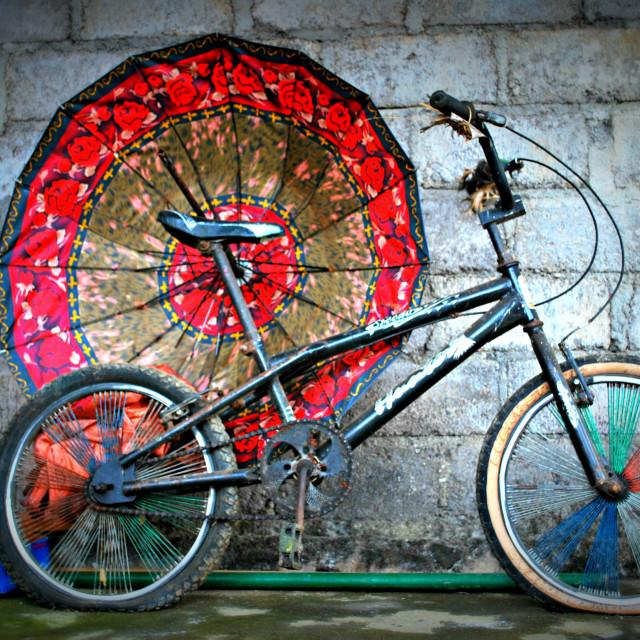 """Balinese bike"" stock image"