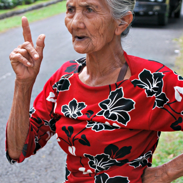 """""""Cross old Asian lady"""" stock image"""