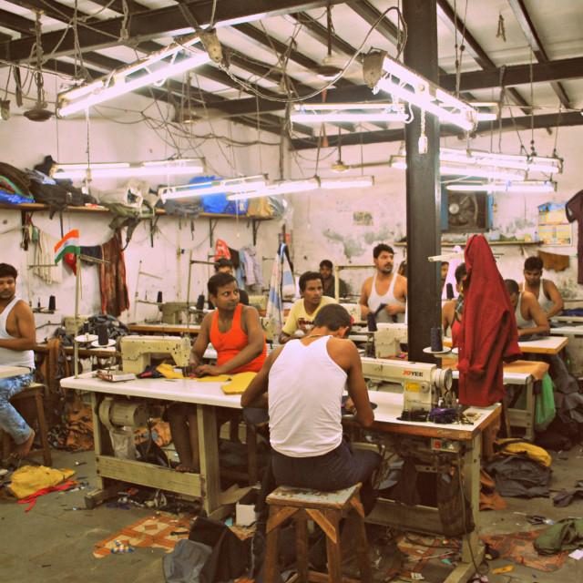 """""""Indian sweatshop"""" stock image"""