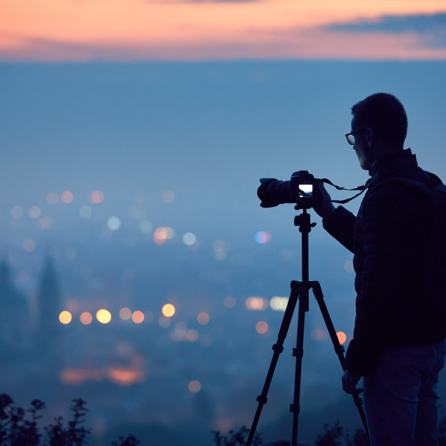 """Silhouette of the photographer"" stock image"
