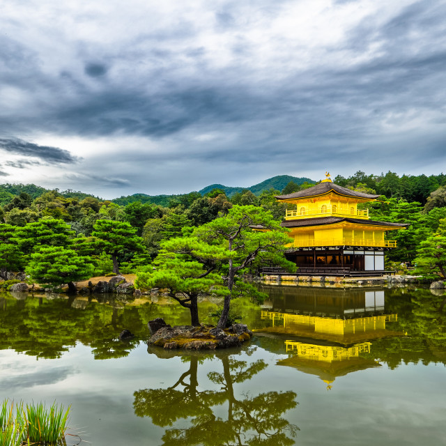 """The Golden Pavilion (Kinkaku-ju), Kyoto, Japan"" stock image"