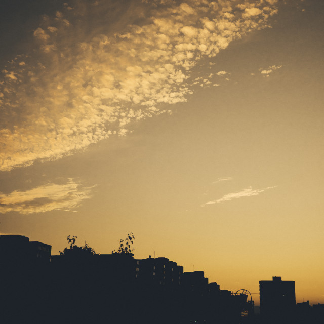 """CloudStorm at Sunset"" stock image"
