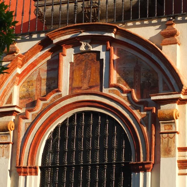 """Door Arch of Sevilla"" stock image"