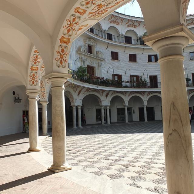 """""""Arches Of Plaza del Cabildo, Sevilla"""" stock image"""