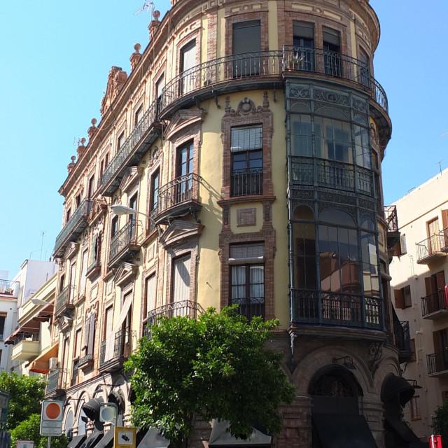 """Calle Castelar, Sevilla"" stock image"