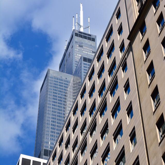 """Skyscrapers in Chicago, Illinois, USA."" stock image"