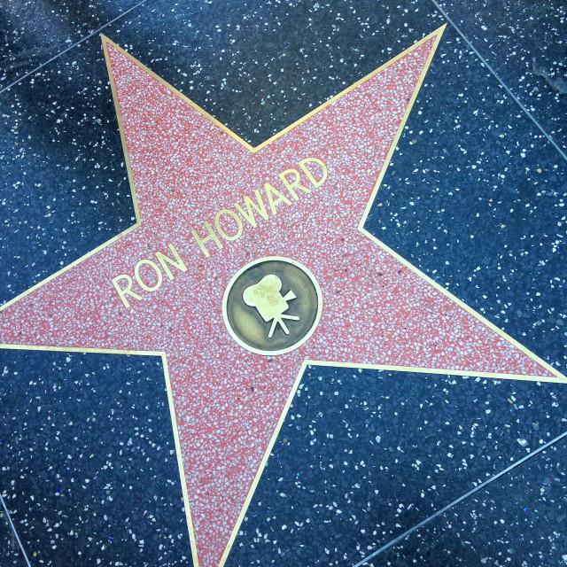 """Ron Howard Hollywood walk of fame star."" stock image"
