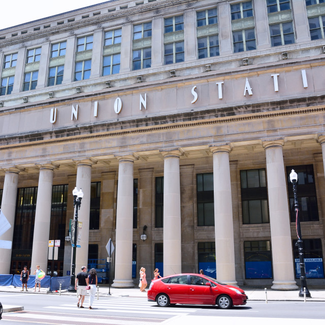 """""""Union Station in Chicago, USA."""" stock image"""