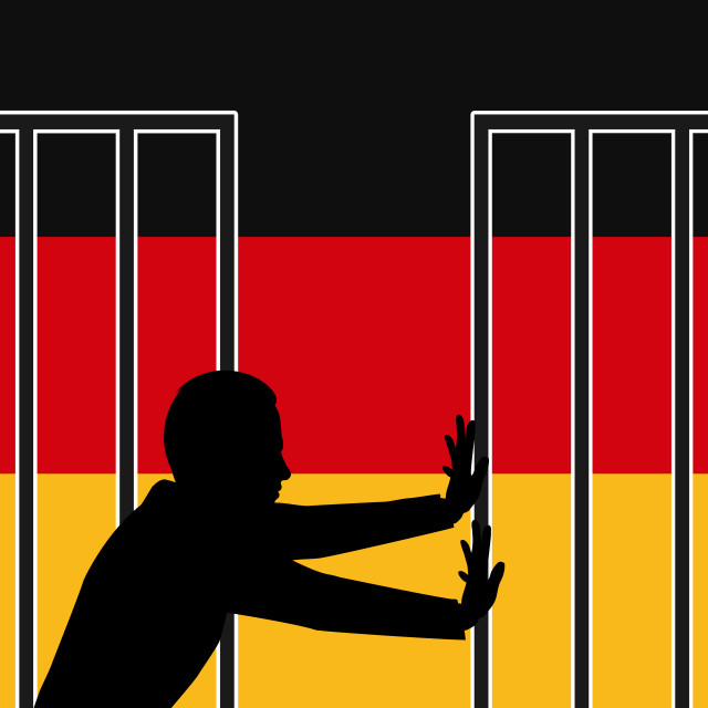 """Germany Welcomes Refugees"" stock image"