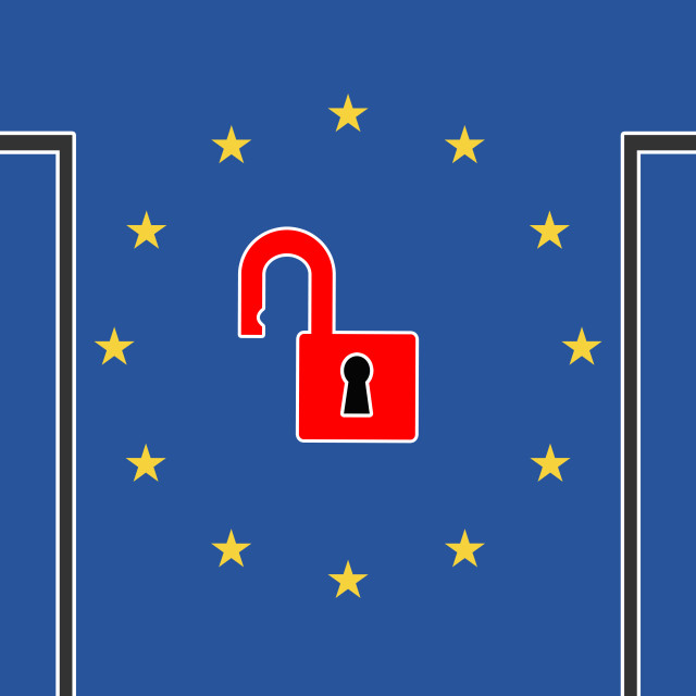 """Keep Europe Open"" stock image"