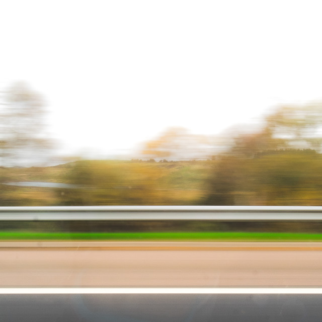 """Road side blur"" stock image"