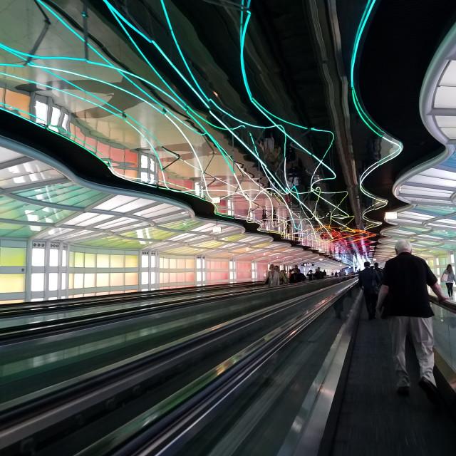 """Airport Neon"" stock image"