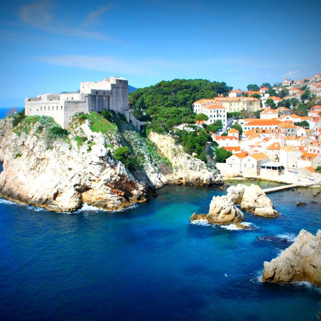 """Dubrovnik city scape"" stock image"