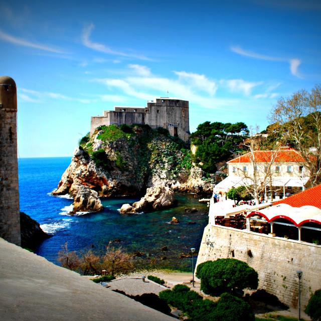 """Dubrovnik castle"" stock image"