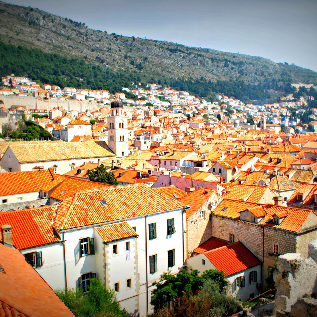 """""""Dubrovnik from the walls"""" stock image"""