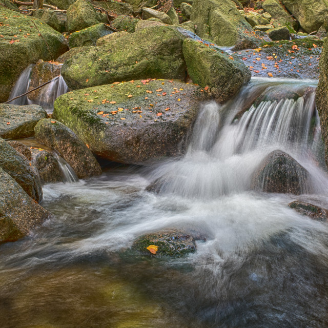 """small stream watterfall in jizerske mountains"" stock image"