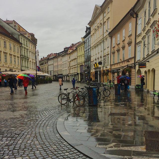 """""""Autumn in Ljubljana"""" stock image"""