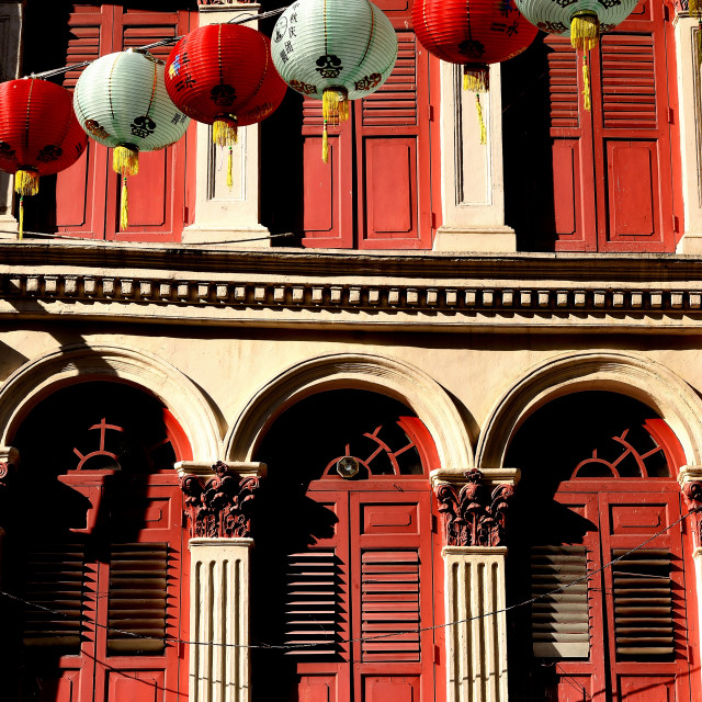 """""""Evening Glow in Chinatown"""" stock image"""