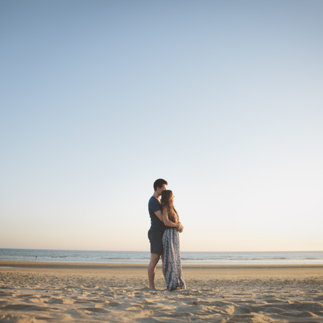 """""""Couple in the beach"""" stock image"""