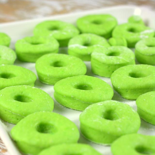"""""""Pandan doughnut"""" stock image"""