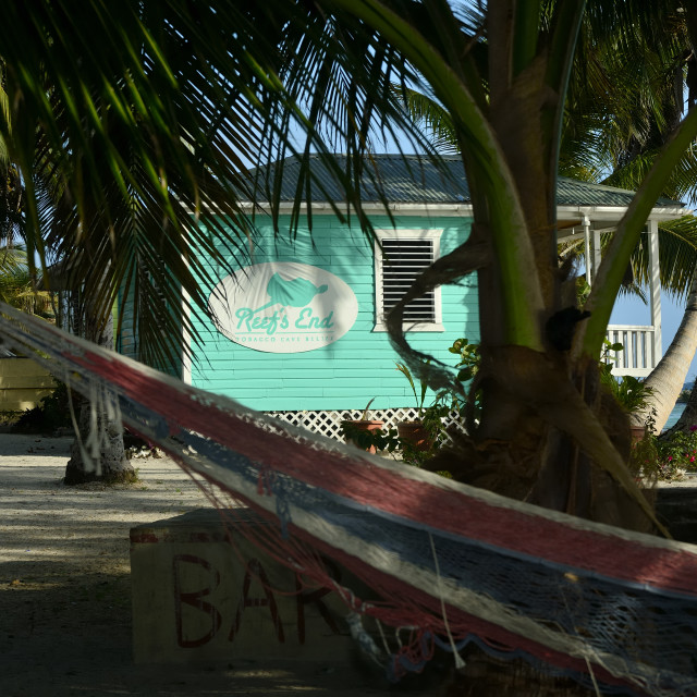 """Reef's End Lodge Resort in Belize"" stock image"