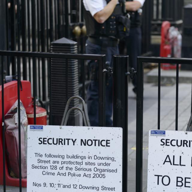 """Security at Downing Street"" stock image"