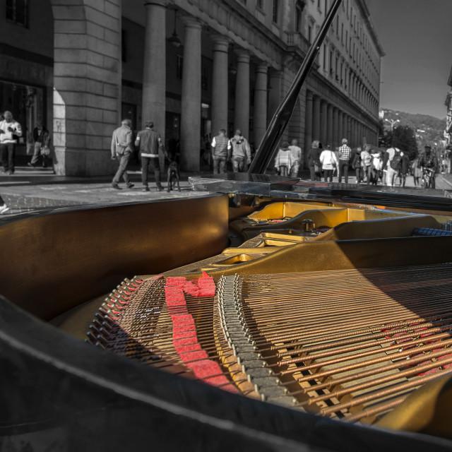 """""""Playng piano"""" stock image"""