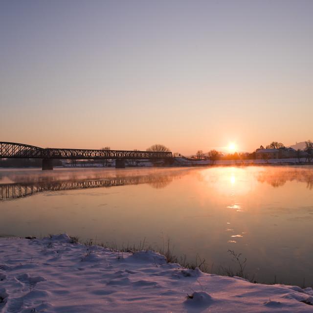"""Sunrise Danube"" stock image"