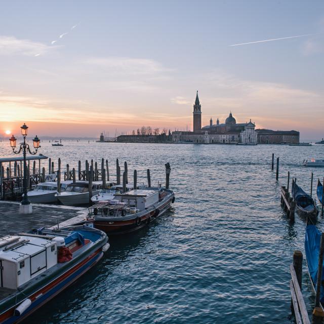 """Venice Winter Impressions - Sunrise"" stock image"