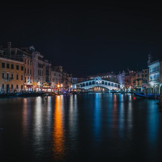 """""""Venice Winter Impressions - Rialto Bridge"""" stock image"""